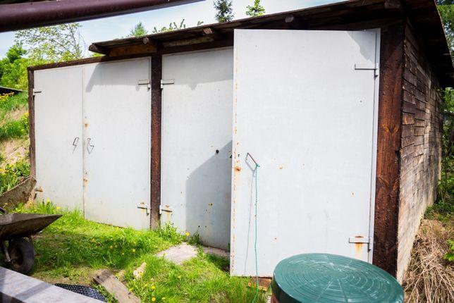 Bramy garażowe dwuskrzydłowe, stalowe solidne ciężkie podwójny komplet