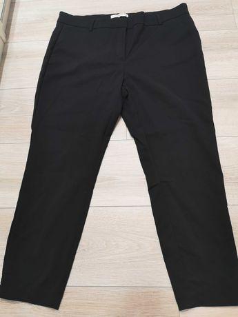 Spodnie cygaretki czarne Reserved z kantem Rozm EUR 46 UK 18 z paskiem
