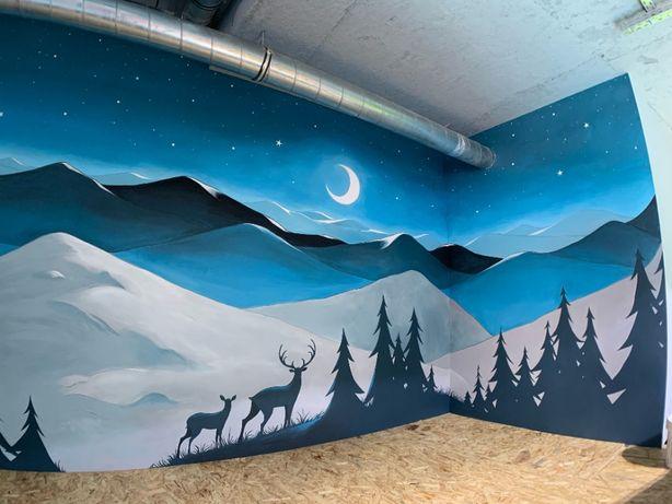 Artystyczne malowanie ścian, Mural, Obraz na ścianie, Graffiti