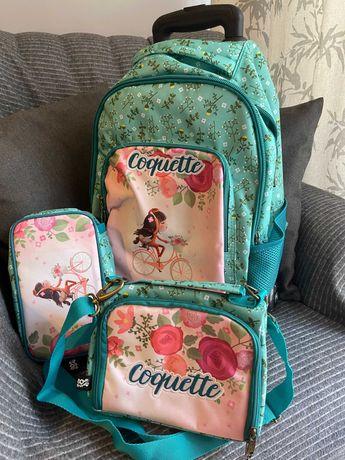 Mochila Trolley Escolar + Estojo + Lancheira Térmica (NOVA)