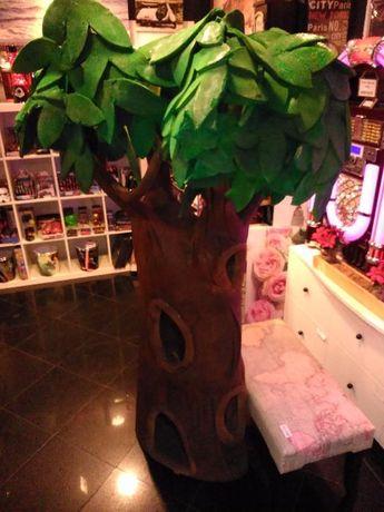 Árvore decorativa borracha