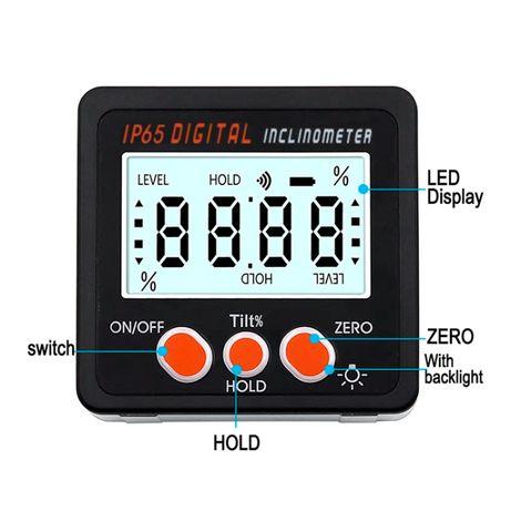 Inclinómetro Digital Base Magnética IP65 (NOVO)