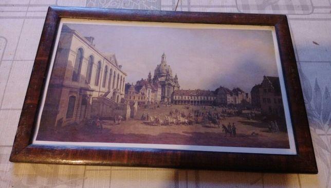 Stary obraz wymiary 44/60 cm