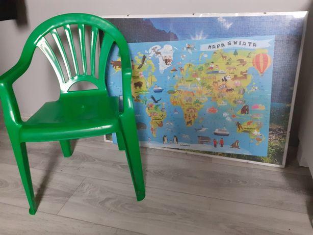 Krzesełko plastikowe obraz puzzle