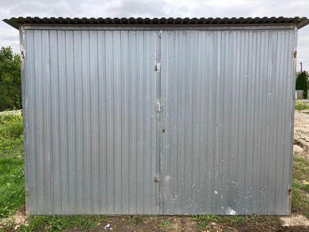 Garaż blaszak 3x5, używany, ocynk pierwszy gatunek + mocowanie