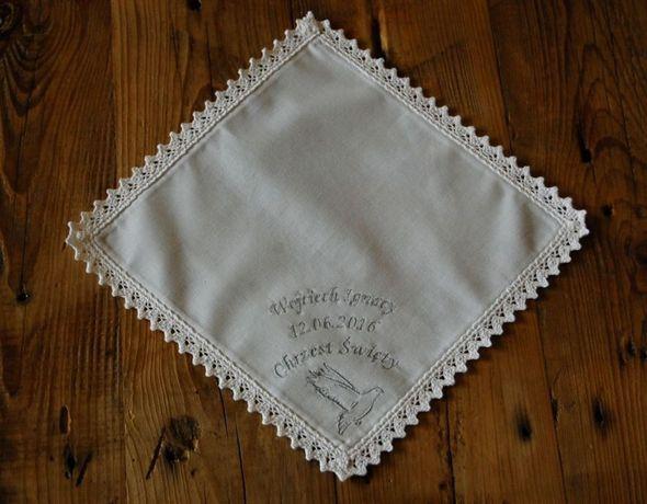 Biała szata do chrztu - spersonalizowana