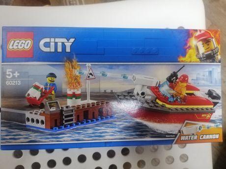 LEGO 60213 Pożar w dokach - straż, motorówka, Nowe!