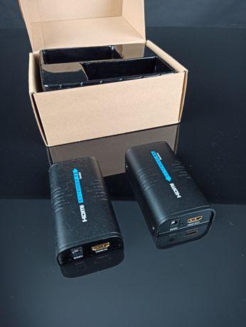 Przedłużacz HDMI przez ethernet, komplet TX + RX