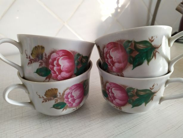 Чашки, набор пиал с салатником
