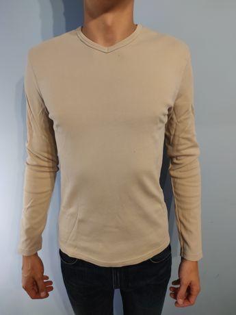 Bluzka CONWELL bluza z długim rękawem męska M beżowa H&M jasna
