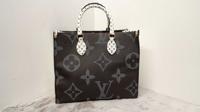 Torebka LV Louis Vuitton Czarno Biala Monogram DUZA PIEKNA