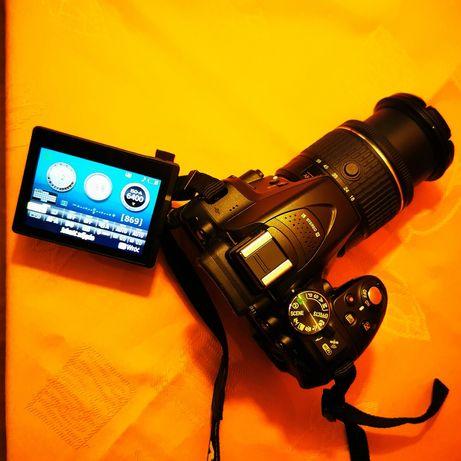Lustrzanka cyfrowa NIKON D5300 + AF-P DX Nikkor 18-55mm f/3.5-5.6G VR