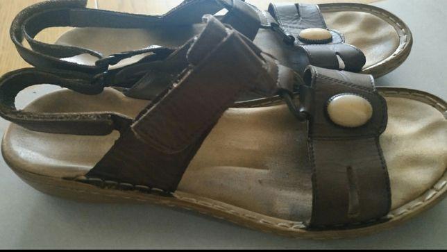 Skórzane sandały 39 Rieker