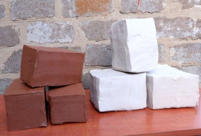 Гончарная глина, глина для творчества, красная глина, белая глина