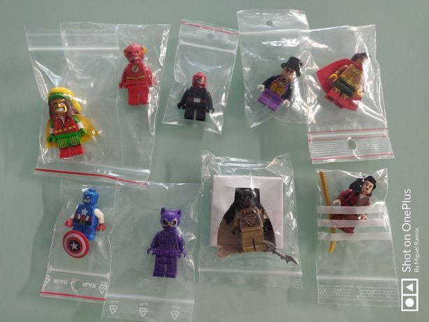 Minifiguras Lego Marvel e Dc