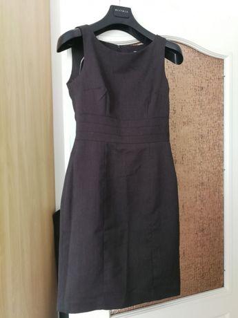H&M szara elegancka sukienka z podszewką 38 M