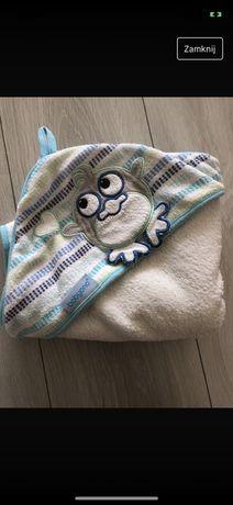 Ręcznik kąpielowy z kapturem okrycie miki mickey biały