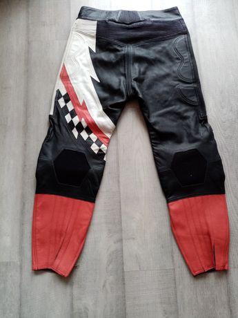 Spodnie motocyklowe skórzane rozmiar 60,3XL.4XL na motor motocykl