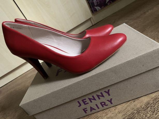 Czerwone buty na obcasie NOWE