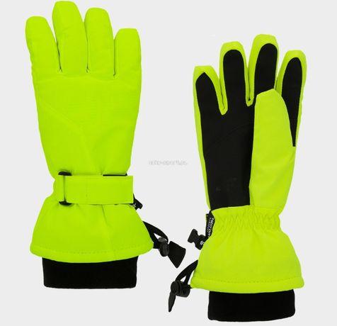 Juniorskie rękawice Narciarskie Chłopięce JREM002 neon yellow