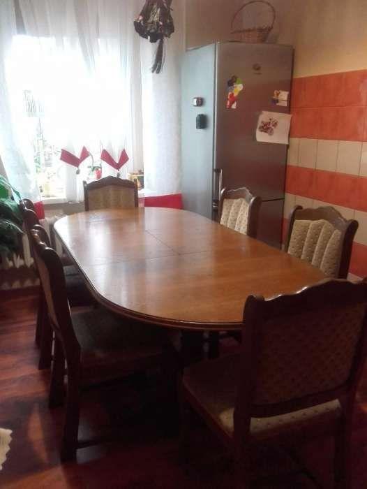 Stół dębowy stan.bdb + 6.krzeseł GRATIS !!!