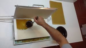 prensa moldar cera, colmeias, enxames, apicultura,cera moldada.
