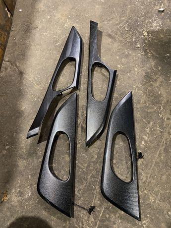 Накладки ручек карбон Nissan Rogue USA запчасти ниссан рог нисан нісса