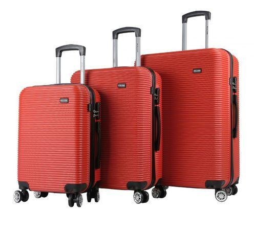 Zestaw walizek podróżnych Mulano M L XL czerwone walizki bagażowe 1374