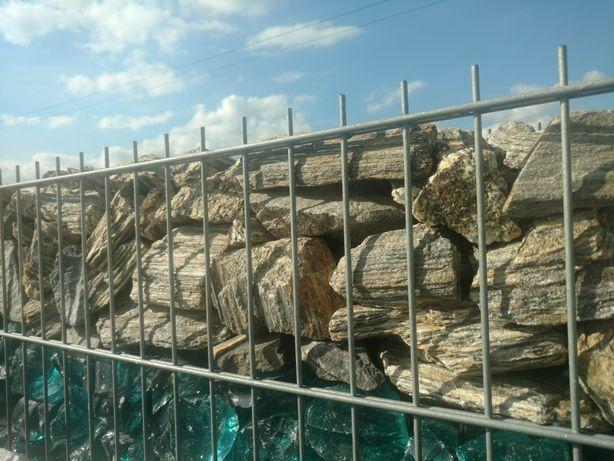 Kora kamienna gabionowa gnejs gabionowy kamień do gabionu ogrodzeń