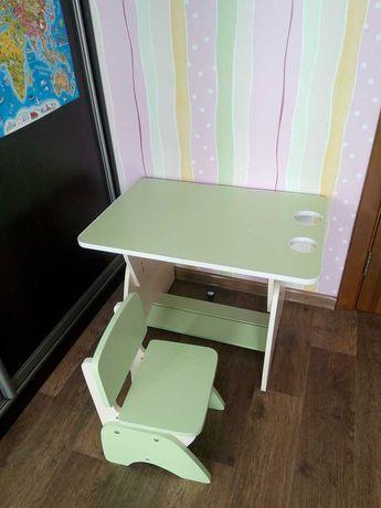 Комплект стол и стул растущие, растишка, цвет салатовый