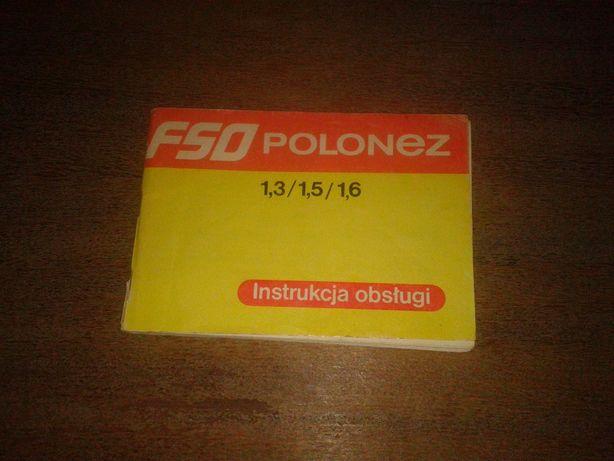 instrukcja obsługi fso polonez 1988r 1.3/1.5/1.6