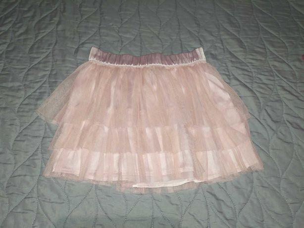 H&M spódnica tiulowa tutu jasny róż 116 5-6 lat
