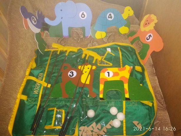 Гольф детский в сумке, спортивная игра.