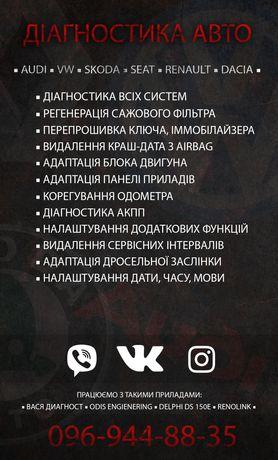 Кодирование блоков, адаптации, диагностика AUDI, SKODA, VOLKSWAGEN.