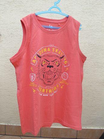 NOWY tshirt 152 bluzka lato bez rękawów chłopiec 5-10-15 upał