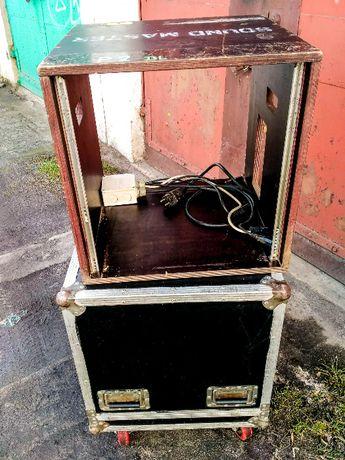 Duży solidny case rack 11U skrzynia na kołach