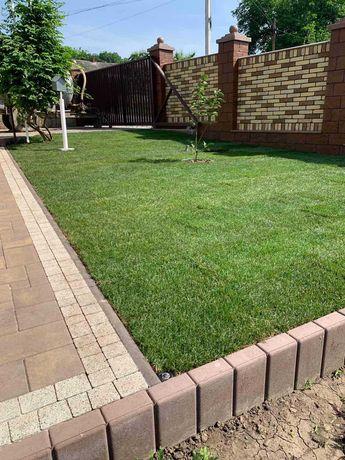 Рулонный газон за 1 день+ автополив /Газон в рулонах – живая трава