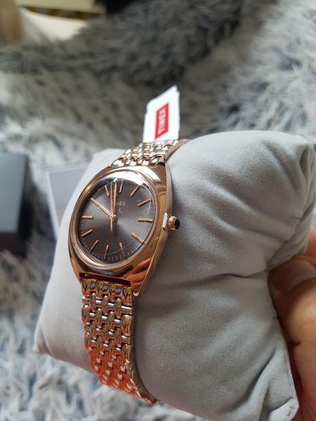 Zegarek damski TIMEX ZŁOTY TW2T90500 nowy Gwarancja 36m Komunia