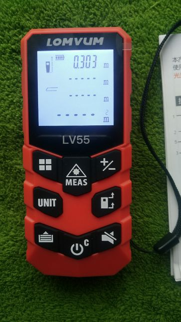Dalmierz laserowy 40 m Lomvum LV 55U, płytka odblaskowa +- 1mm
