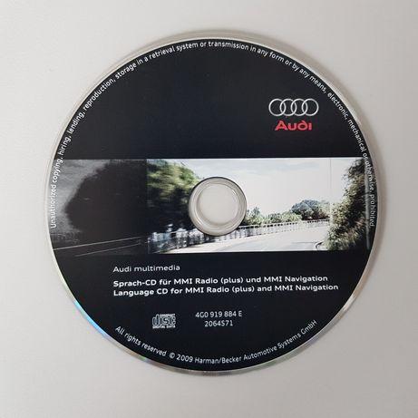 AUDI CD GPS Atualização Idioma - 3G MMI Radio (Plus) e MMI Navigation
