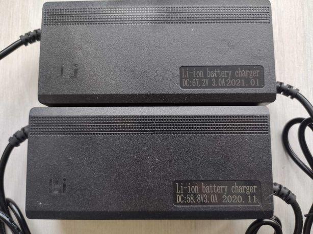 Зарядное устройство для электросамоката блок питания 58.8v/67.2v 2а/3a