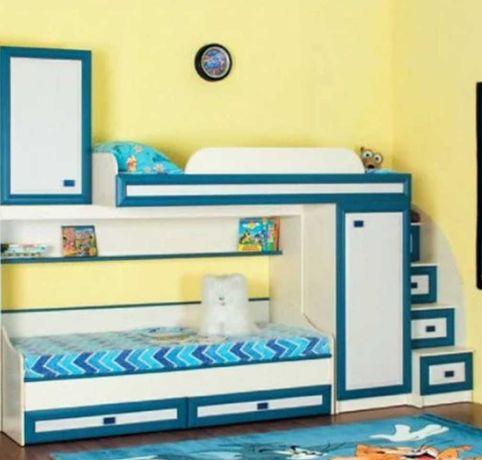 """Дитяче ліжко дитяча система """"Твінс"""" лижко ліжко ліжечко  двохярусна"""