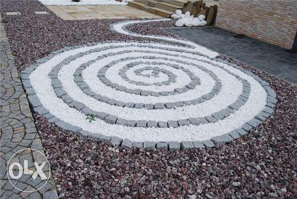 Otoczak kamień biały THASSOS GRECKI hurtownia kamienia BEŁK