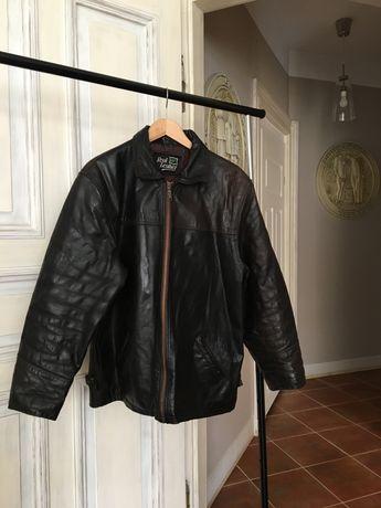 Kurtka skórzana męska rozmiar L vintage real leather