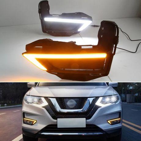 Nissan Rogue туманки дхо ниссан Рог LED-DRL с повторителем поворота.