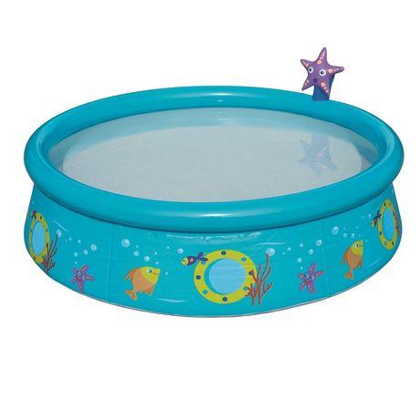 Детский надувной бассейн Bestway 57326 «Пчелки», 152х 38см, голубой