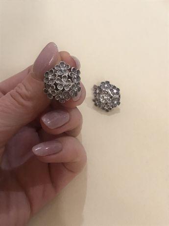 Серебро серьги, вага 9,46, срібні сережки