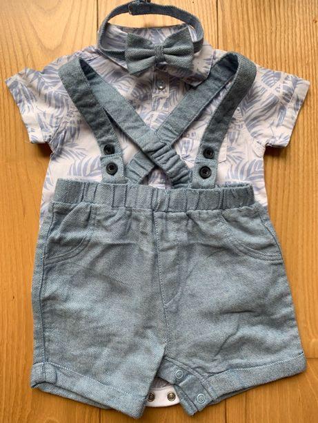 Zestaw Primark koszula body, mucha i spodnie 3-6 miesięcy, 68 cm