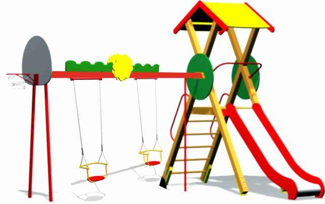 Універсальний ігровий комплекс, дитячий майданчик, гірка, гойдалка