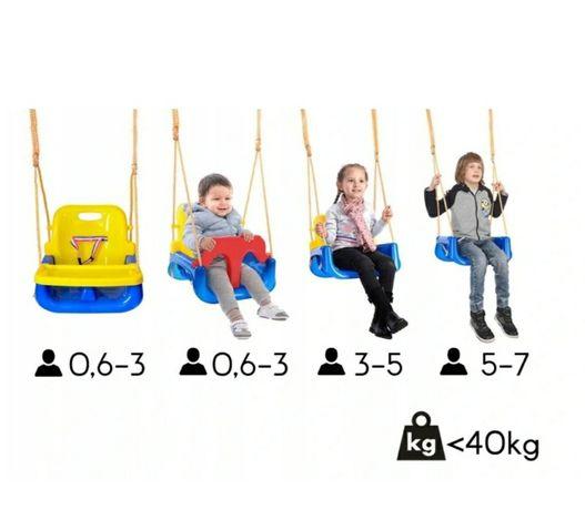Huśtawka dla dzieci modułowa rośnie z dzieckiem